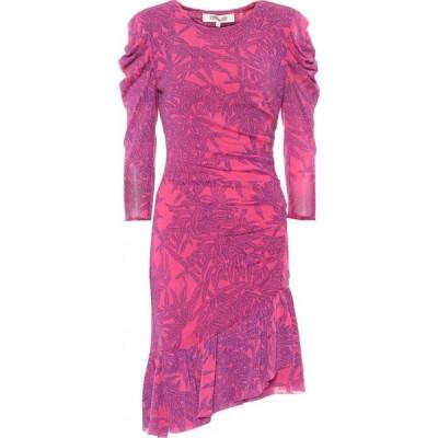 ダイアン フォン ファステンバーグ Diane von Furstenberg レディース ワンピース ワンピース・ドレス Lila floral mesh minidress Lepic Empress