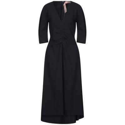 ヌメロ ヴェントゥーノ N°21 ロングワンピース&ドレス ダークブルー 38 ポリエステル 100% ロングワンピース&ドレス