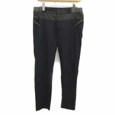 【中古】カラー kolor イージーパンツ ウール wool tropical easy pants 1 S 紺 ネイビー 茶 /YM メンズ