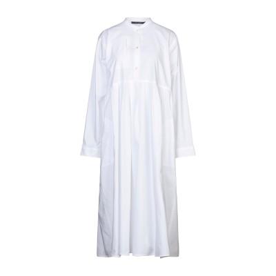 ソフィー・ドール SOFIE D'HOORE 7分丈ワンピース・ドレス ホワイト 36 コットン 100% 7分丈ワンピース・ドレス