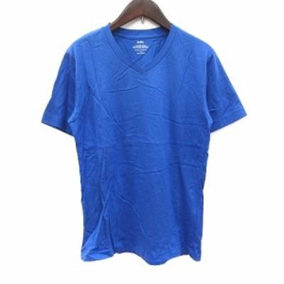【中古】シップス SHIPS Tシャツ カットソー Vネック 半袖 青 ブルー /CT レディース