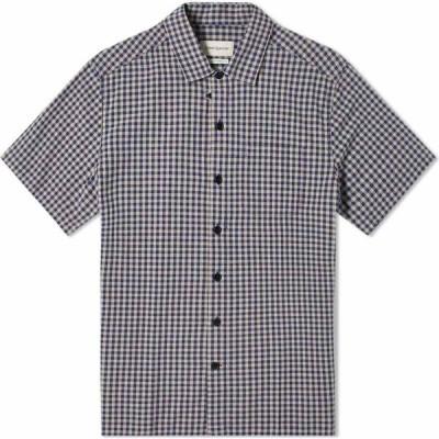 オリバー スペンサー Oliver Spencer メンズ 半袖シャツ アロハシャツ トップス short sleeve hawaiian shirt Blue