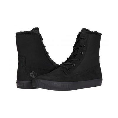 Timberland ティンバーランド レディース 女性用 シューズ 靴 ブーツ レースアップ 編み上げ Skyla Bay Fleece Fold-Down - Black Nubuck