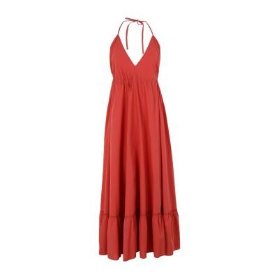 OTTOD'AME ロングワンピース&ドレス 赤茶色 40 コットン 100% ロングワンピース&ドレス