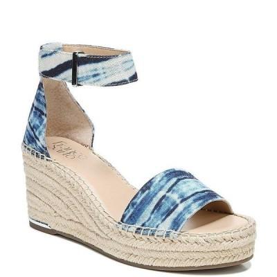 フランコサルト レディース サンダル シューズ Clemens Tie-Dye Canvas Espadrille Wedge Sandals Blue Marlon Tie Dye