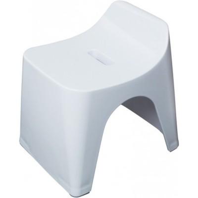 シンカテック ヒューバス バススツールh25 白 280×340×345(mm)  HU-W 風呂いす