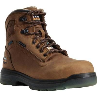 """アリアト ブーツ&レインブーツ シューズ メンズ Turbo 6"""" H2O CSA Carbon Toe Work Boot (Men's) Aged Bark Full Grain Leather"""
