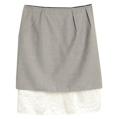 ゴールデン グース GOLDEN GOOSE DELUXE BRAND ひざ丈スカート グレー S バージンウール 100% ひざ丈スカート