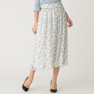 トゥー ビー シック TO BE CHIC 【WEB限定】【Tricolore】ガーデンプリントスカート (オフホワイト)