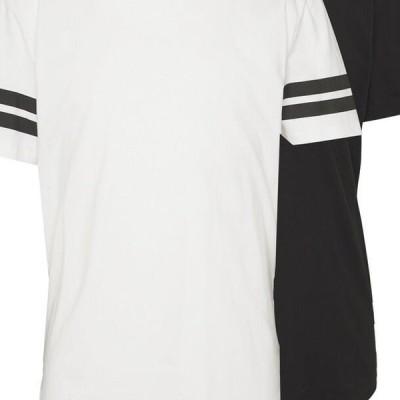 メンズ ファッション ONSMATT LONGY SOLID STRIPE 2 PACK - Print T-shirt - black/white