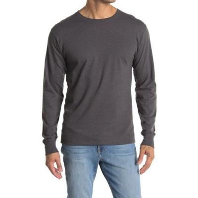 チャンピオン メンズ Tシャツ トップス Classic Graphic Long Sleeve T-Shirt GRANITE HE