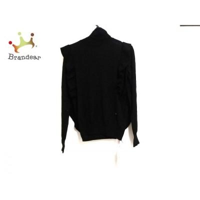 チェスティ Chesty 長袖セーター サイズF レディース 美品 黒 タートルネック/フリル 新着 20200306