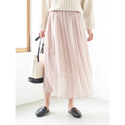 小花柄シフォンプリーツスカート