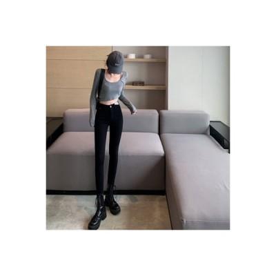 【送料無料】秋 新品 ハイウエスト タイト 小さなジーンズ ストレッチ 着やせ 着やせ  ペンシルズ | 364331_A63842-6896871