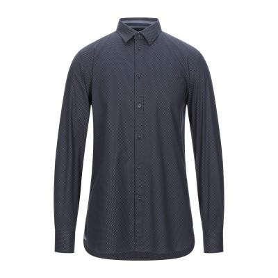 トラサルディ ジーンズ TRUSSARDI JEANS シャツ ダークブルー 40 コットン 100% シャツ