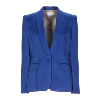 CRISTINAEFFE テーラードジャケット ブライトブルー 46 アセテート 73% / レーヨン 27% テーラードジャケット