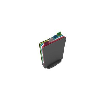インデックス付まな板 ミニ グラファイト 4枚セット 60098 Joseph Joseph ジョセフジョセフ[01]