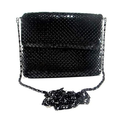 X-Small Women clutch metal mesh evening purse bag for Cocktail Party Prom Wedding Banquet (Black)【並行輸入品】