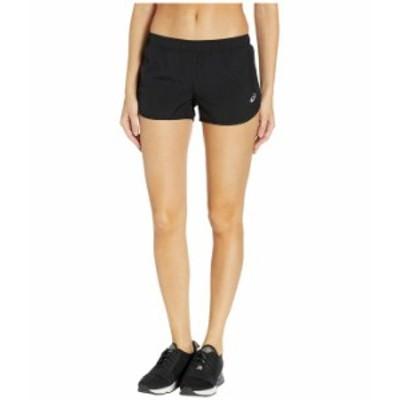 アシックス レディース ハーフパンツ・ショーツ ボトムス Run Silver Split Shorts Performance Black