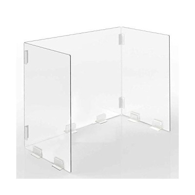 sumunior 透明 パーテーション アクリル板 3面 600×305×400mm 折りたたみ式アクリルバッフル 透明アクリルパーテーション 厚さ4