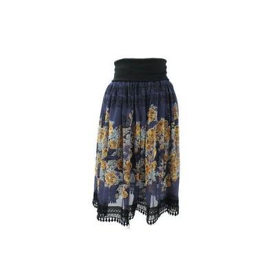 ルージュヴィフ(Rouge vif)パープル花柄スカート