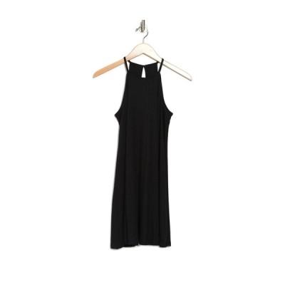 ラブファイヤ レディース ワンピース トップス Ribbed Keyhole Back Swing Dress BLACK - 002