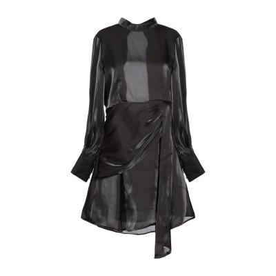 WEILI ZHENG ミニワンピース&ドレス ブラック S ポリエステル 100% ミニワンピース&ドレス
