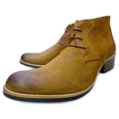 RAUDi ラウディ チャッカブーツ メンズ 本革 スエード スウェード ベージュ 茶色 革靴