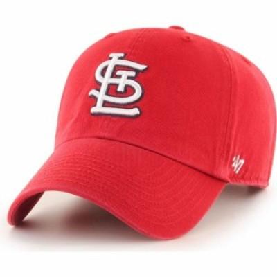 フォーティセブン 47 メンズ キャップ 帽子 St. Louis Cardinals Red Clean Up Adjustable Hat