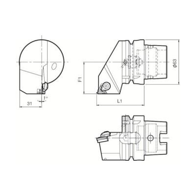 京セラ ツーリング機器 ( T63H-KTNR-22 ) 京セラ(株) 【メーカー取寄】