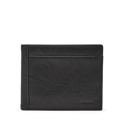財布 フォッシル メンズ  Fossil Men's Neel Flip ID Bifold Black Wallet ML3899001