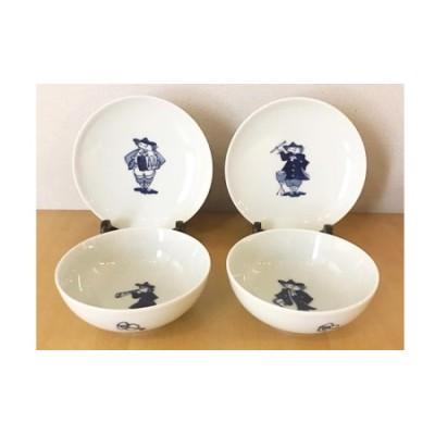A20-195 ヘビロテセット ボール2個と皿2枚【絵柄はおまかせ】(ハーモニーシリーズ) ギャラリーフジヤマ