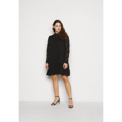 ミスガイデッド ワンピース レディース トップス HIGH NECK FRILL HEM DRESS - Day dress - black