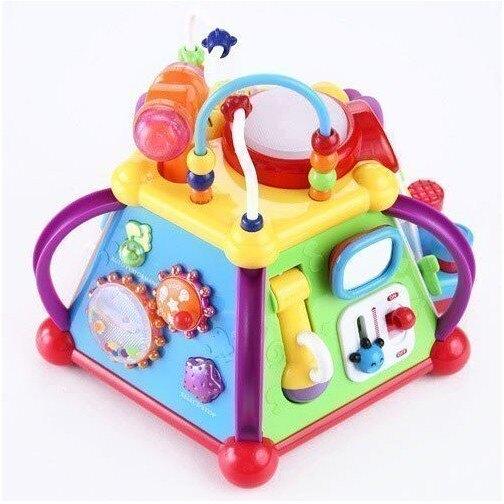麗嬰兒童玩具館~匯樂-快樂小天地 .多功能六面音樂智慧盒.十五合一超有趣.專櫃同款