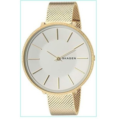 Skagen Women's Karolina Analog-Quartz Stainless-Steel-Plated Strap, Gold, 14 Casual Watch (Model: SKW2722)【並行輸入品】