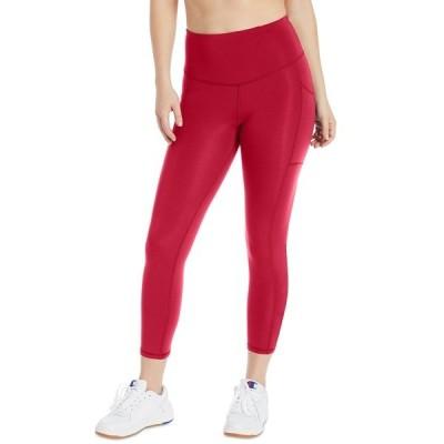 チャンピオン カジュアルパンツ ボトムス レディース Women's Double Dry Pocket Leggings Red Persuasion