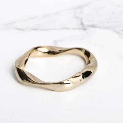 即納 韓国 アクセサリー 指輪 リング ゴールド ねじれ 大人かわいい 華奢 上品 韓国ファッション オルチャン ブライダル 結婚式 二次会