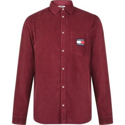 トミー ジーンズ Tommy Jeans メンズ シャツ トップス Sleeve Corduroy Shirt Burgundy