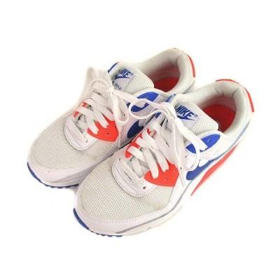 【中古】ナイキ NIKE AIR MAX 90 エアマックス 90 スニーカー シューズ 靴 CT1039-100 白 青 24cm レディース 【ベクトル 古着】