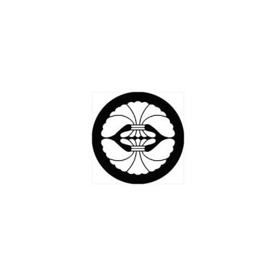 家紋シール 二つ結綿紋 直径4cm 丸型 白紋 4枚セット KS44M-2475W