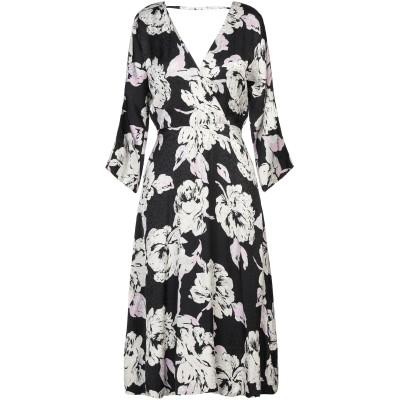 GESTUZ 7分丈ワンピース・ドレス ブラック 36 レーヨン 100% 7分丈ワンピース・ドレス