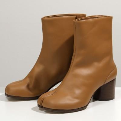 MAISON MARGIELA メゾンマルジェラ S58WU0246 PR516 レザー 足袋 タビブーツ 6cmヒール ショートブーツ 靴 T2287 レディース
