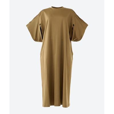<AKIRANAKA(Women)/アキラナカ> Slit sleeves T dress BE BEIGE【三越伊勢丹/公式】