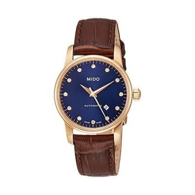 [ミドー] 自動巻き腕時計 バロンチェッリ ミッドナイトブルー レディース M76003658 ブラウン