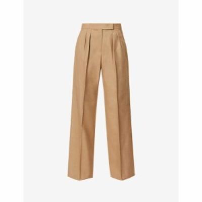 マックスマーラ MAX MARA レディース ボトムス・パンツ Galea high-rise wide woven trousers CAMEL