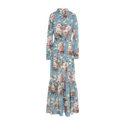 セミクチュール SEMICOUTURE ロングワンピース&ドレス ブルーグレー 46 ポリエステル 100% ロングワンピース&ドレス