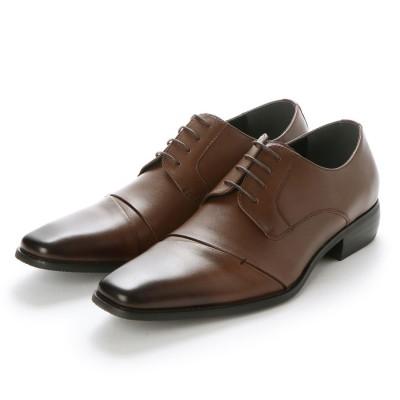 ネロ コルサロ NERO CORSARO ビジネスシューズ 本革 日本製 靴 メンズシューズ 紳士靴 抗菌 消臭 脚長 フォーマル 冠婚葬祭 ナナメチップ 外羽根 (ダークブラウン)