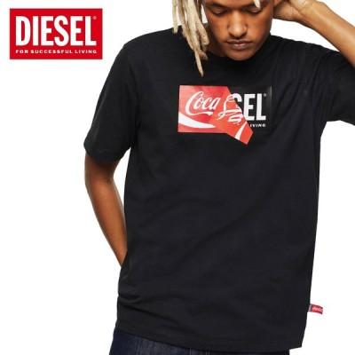 送料無料 58 DIESEL ディーゼル  CC T JUST COLA ブラック 00SHNT 0GYGA クルーネック 半袖 Tシャツ