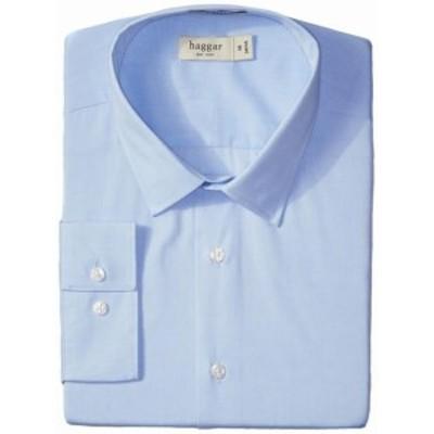 ファッション ドレス Haggar NEW Blue Mens Size 18 1/2 Fitted Mechanical Stretch Dress Shirt