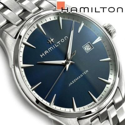 Hamilton ハミルトン ジャズマスター クォーツ メンズ腕時計 ブルーダイアル ステンレスベルト H32451141
